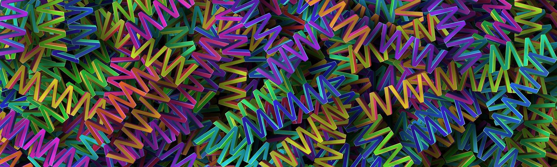 Mélange de www en plastique de couleur