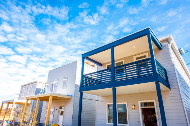Petites maisons préfabriquées grâce à la construction modulaire